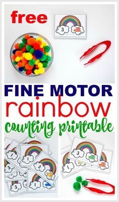 6 Rainbow Themed Math Activities for Preschoolers with FREE Printable - Rainbow Weather Activities Preschool, St Patrick Day Activities, Rainbow Activities, Preschool Colors, Preschool Centers, Preschool Lesson Plans, Preschool Themes, Preschool Learning, Math Activities For Preschoolers
