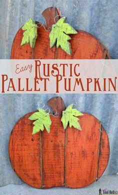 easy rustic pallet pumpkin