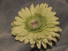 Sparkley Spring Flower Clip Green by ang744 on Etsy, $4.00