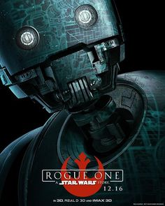 We can't wait to see #AlanTudyk voice #K2SO in the upcoming '#RogueOne: A #StarWars Story!' 💯 See even MORE gorgeous posters from the upcoming flick by clicking the link in our bio. 📷: Lucasfilms