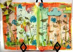 I saw this on the Scarlet Lime webpage...love them for inspiration. I doubt I could ever make an art journal page look this amazing!