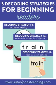 Are you looking for decoding strategies to teach your young learners? I am going to share five decoding strategies that are helpful for teaching children to read. These decoding strategies for struggling readers can be used during guided reading groups or literacy intervention groups. Use these phonics activities to help your students become successful readers. You can use these as part of your reader's workshop mini lessons as well.
