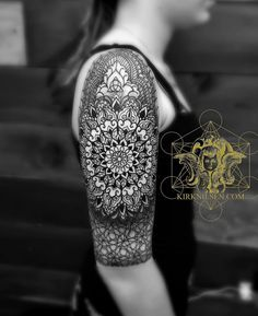 Intricate Upper Arm Mandala