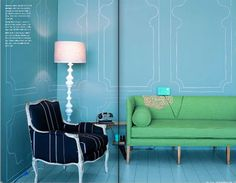 chalk/marker accent trim - love the idea of simply painting an accent trim on the wall!