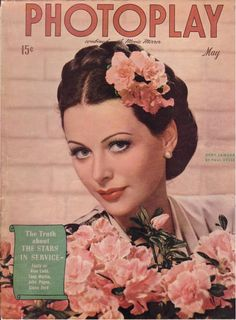 Hedy Lamarr on the May 1944 cover of Photoplay magazine