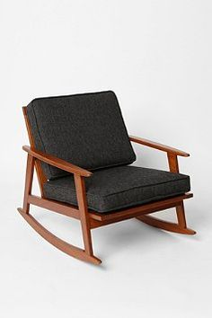 mid century rocker from Urban Outfitters. Awesome style and price $289! Recover cushions