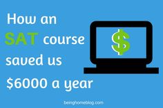 """Know somebody taking the SAT this year? This digital prep course helped my son raise his score to qualify for a $6,000/year scholarship.  http://bit.ly/2ebR0Ip Enter coupon code """"SAVE30NOW"""" at checkout for 30% off."""