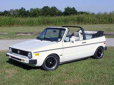 Many fun college memories in this old VW Rabbit convertible.