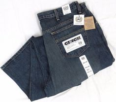 CINCH Western Jeans NEW 38 x 38 White Label Indigo Denim Relaxed Ranch Fit NWT #Cinch #Relaxed