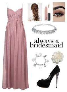 """""""Always a Bridesmaid"""" by brightheart593 ❤ liked on Polyvore featuring Casadei, Cara, MAC Cosmetics and ChloBo"""