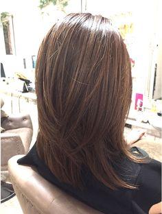 Asian Hair Bob, Bob Hair Color, Brown Blonde Hair, Layered Hair, Hair Highlights, Fine Hair, Ombre Hair, Cute Hairstyles, Hair Inspiration