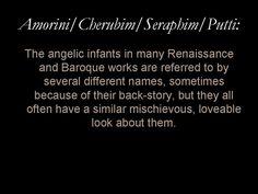 Glossary entry: 'Amorini/Cerubim/Seraphim/Putti'