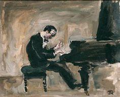TICMUSart: Portrait of an Italian pianist and conductor Carlo Tsekki - Pyotr Konchalovsky (1930) (I.M.)
