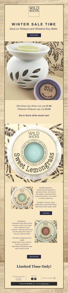 WINTER SALE TIME  Save on Wildpod and WildshotSoy Melts