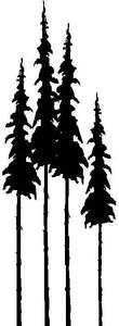 *Tim Holtz Rubber Stamp TALL TREES Pine Stampers Anonymous P3-1373