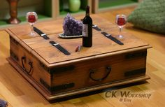 Low Rustic Chest coffee table for Momoko & Fashion Royalty Playscale Diorama Sixthscale