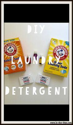 DIY Powdered Laundry Detergent! No chemicals!