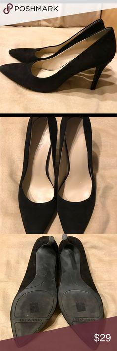 Nine West Black Pointed Toe Heels Good condition. Leather upper. Medium width. Nine West Shoes Heels