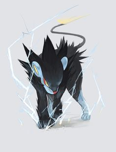 Luxray—when I had Pokémon Platinum, I caught a Shinx and it eventually evolved into this by the fifth or fourth gym... Just what I needed. It was so powerful, and it totally helped my starter and my water type when I was in trouble!!