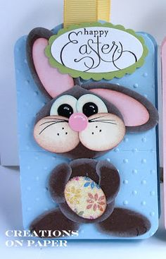 Creations on Paper: Easter Pals - Bunny Hop Punch Art