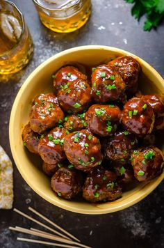 "When I was reading my list of upcoming recipes aloud for James, he stopped me at this one. ""That sounds like a great snack for poker night with the guys,"" he hinted. (He is so subtle, isn't he?) But I had big, estrogen-packed plans for these Slow Cooker Sticky Bacon & Whiskey Meatballs: I was going to...Read More »"