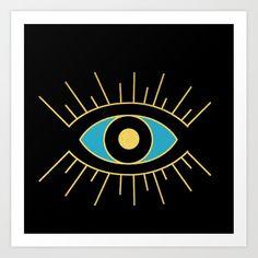 Small Canvas, Canvas Art, Canvas Prints, Art Prints, Evil Eye Art, Eye Painting, Metal Art, Vibrant Colors, Walls