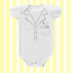 Dentist Baby Bodysuit  Neutral by SimplyBaby by Simplybabyshop, $14.95