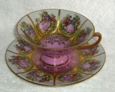 Vintage Handpainted Bavaria Tea Cup