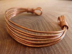 Handmade Wire Wrapped Copper Bracelet / Copper by DerekMcqueen, £6.99
