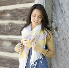 love the fashionABLE scarfs I already have and this one would be great colors for summer