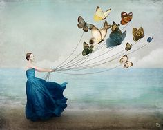 Mother Nature costume accessory - butterflies harnessed (orig art by Christian Schloe)