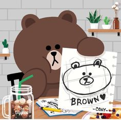 Cony's drawing, Model : brown