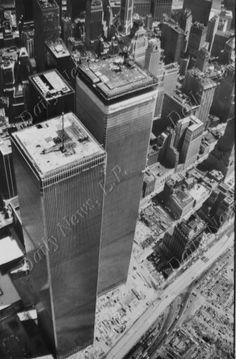 World Trade Center under construction.