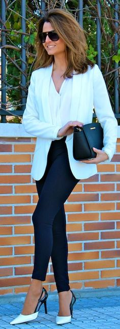 Pilar Burgos Black & White Pointed Toe Stilettos by Oh my Looks