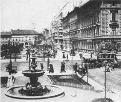 Ilyen is volt Budapest - Gyár utca (Liszt Ferenc tér) Old Pictures, Old Photos, Budapest Hungary, Rotterdam, Historical Photos, Homeland, Vintage Images, The Past, Street View