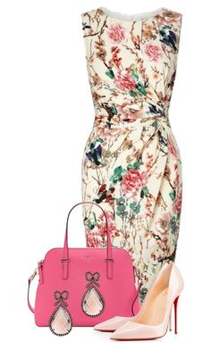 """So Refined"" by tjinwa ❤ liked on Polyvore featuring Lipsy, Christian Louboutin and Haridra"