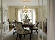 French doors lead into Dining Room -Nantucket-Inspired   Regina Sturrock Design Inc
