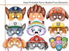 Unique Paws Printable MasksFree Elements by AmazingPartyShop