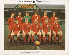 On this day 50 years ago, Liverpool took to the Anfield turf to face Anderlecht in the European Cup sporting an all-red strip for the first time in the club's history. Football Squads, Football Cards, Football Team, Liverpool Fc, Liverpool Football Club, Classic Football Shirts, Retro Football, Squad Photos, Team Photos