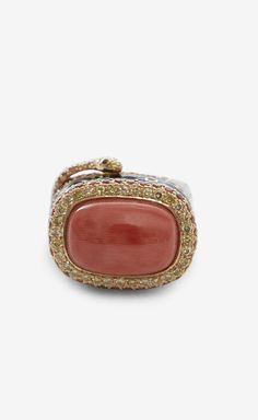 Katherine Le Red And Multicolor  Coral Ring Ring