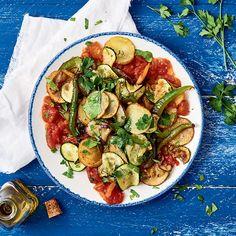 Légumes d'été frits à la sauce tomate - illico Fresco