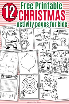 Free Printable Christmas Activity Pack For Kids Coloring Pages Games Learning Activities I Spy