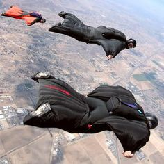 How about trying this???  Squirrel Suit skydiving - lets you glide longer distances.  Ever see the video of the guy gliding feet off a mountain ridge?  Way cool!    www.sodahead.com