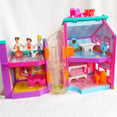 2002 Polly Pocket RARE Lot 2002 Magnetic House  3 Dolls Furniture Accessories  #DollswithClothingAccessories