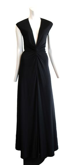 vintage halston black gown