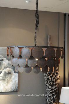 ijzeren 'shell' hanglamp