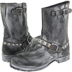 Frye - Rogan Stud Engineer (Black) - Footwear -  Frye  Rogan Stud Engineer (Black)  Footwear 6pm.com is proud to offer the Frye  Rogan Stud Engineer (Black)  Footwear: Step into serious style when you slip on this sharp boot. ; Premium leather upper is distressed for a fashionable look. ; Large studs decorate the...