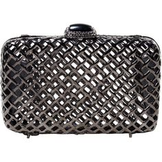 Clara Kasavina Large Charlize Clutch ($745) ❤ liked on Polyvore featuring bags, handbags, clutches, chain purse, clara kasavina handbags, chain handbags and clara kasavina
