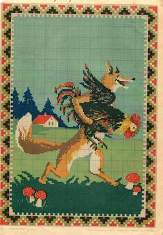 Vintage Soviet Cross Stitch Embroidery Pattern