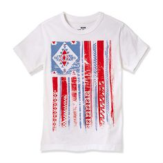 Painted Flag-Tee White by RUUM